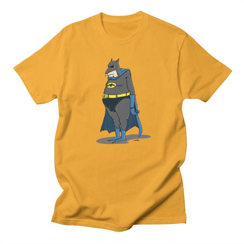Not Bat but Fat. Fatman. Men's T-Shirt by Illustrated Madness