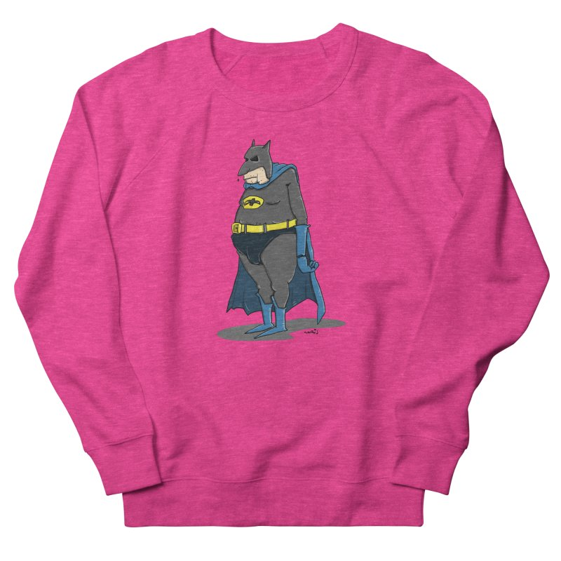 Not Bat but Fat. Fatman. Women's Sweatshirt by Illustrated Madness