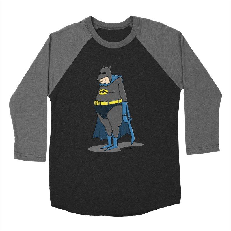 Not Bat but Fat. Fatman. Men's Longsleeve T-Shirt by Illustrated Madness