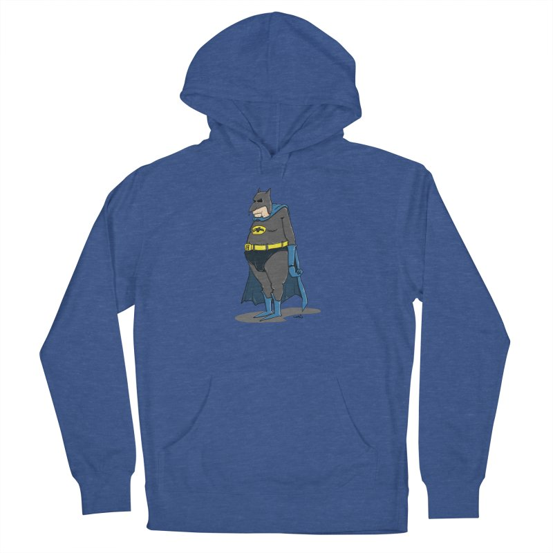 Not Bat but Fat. Fatman. Men's French Terry Pullover Hoody by Illustrated Madness