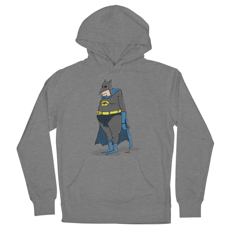 Not Bat but Fat. Fatman. Women's Pullover Hoody by Illustrated Madness
