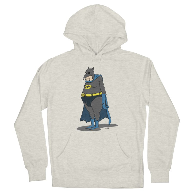 Not Bat but Fat. Fatman. Women's French Terry Pullover Hoody by Illustrated Madness