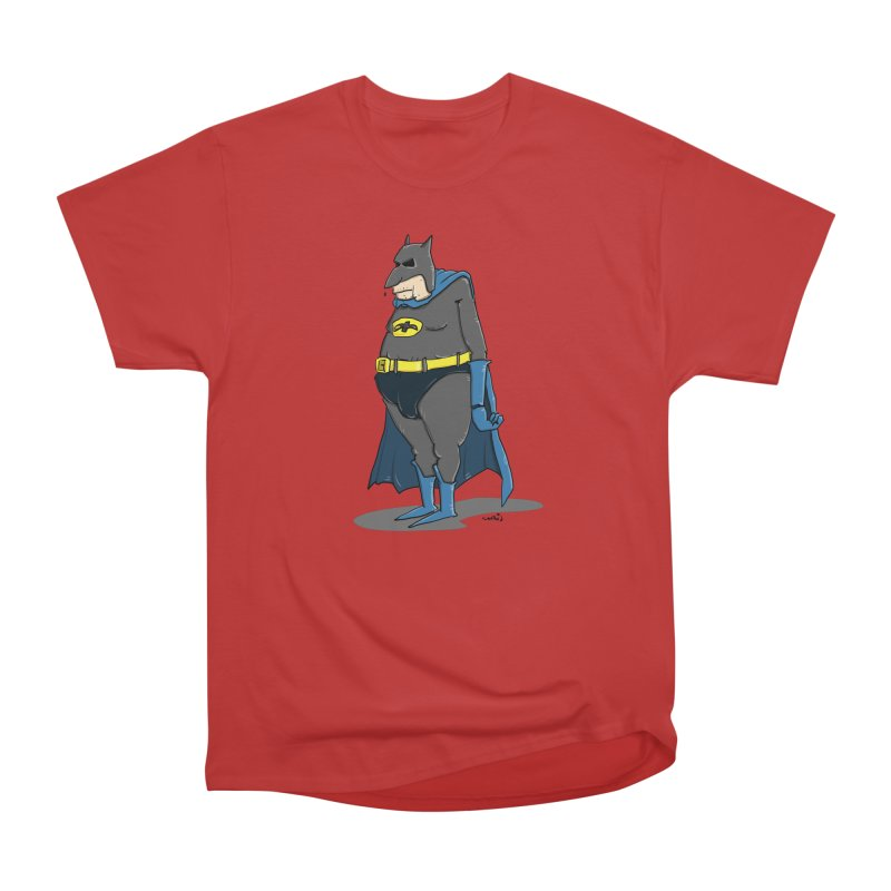 Not Bat but Fat. Fatman. Men's Heavyweight T-Shirt by Illustrated Madness