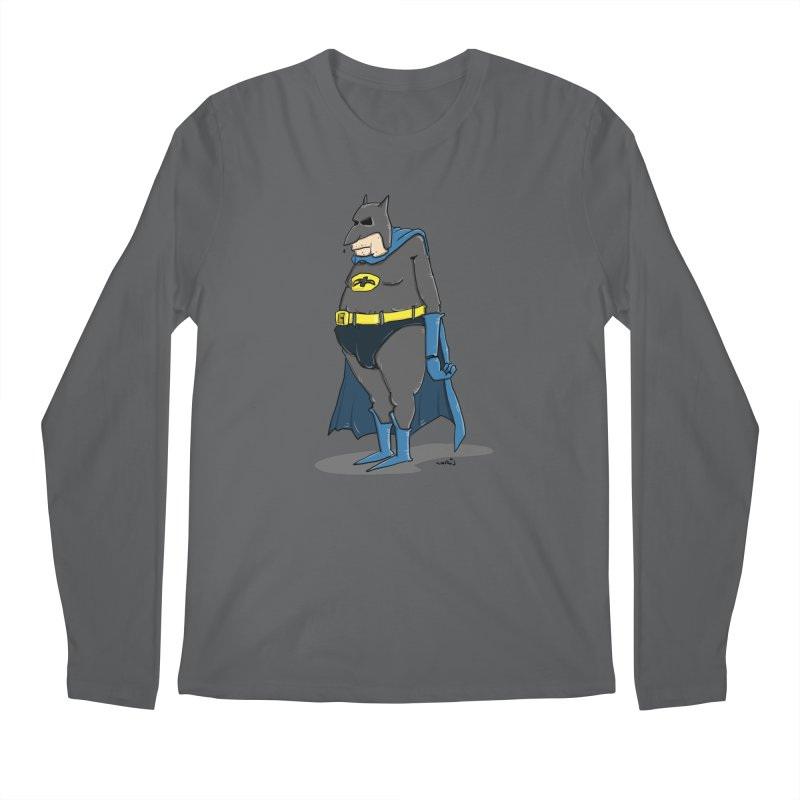 Not Bat but Fat. Fatman. Men's Regular Longsleeve T-Shirt by Illustrated Madness