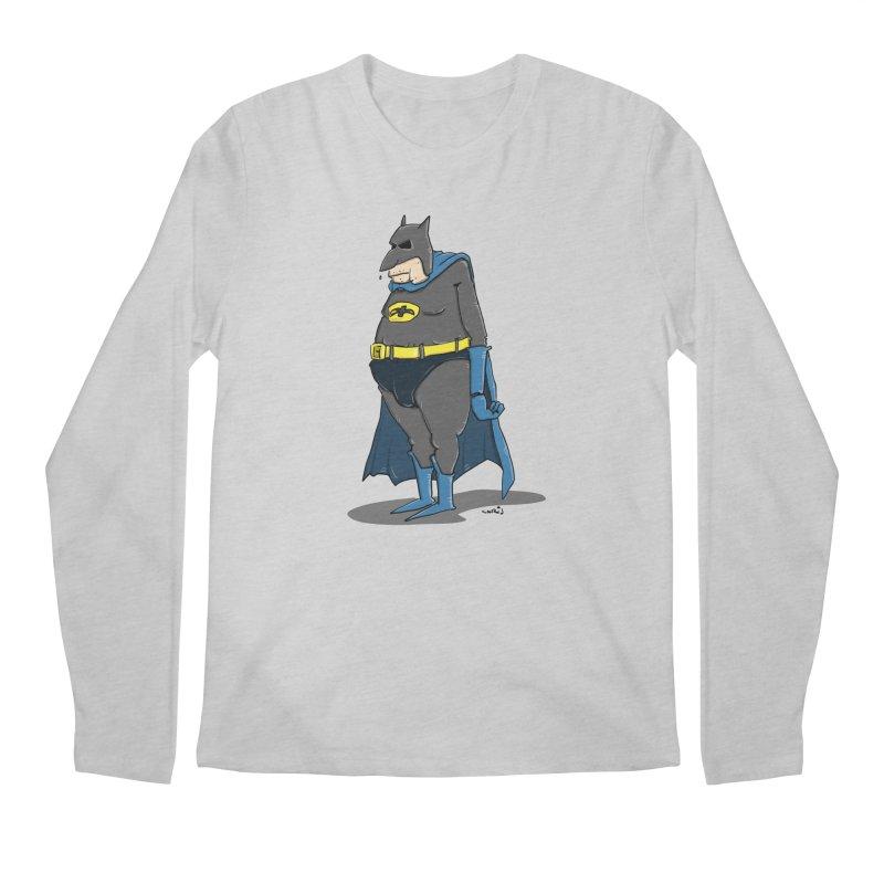 Not Bat but Fat. Fatman. Men's Regular Longsleeve T-Shirt by Illustrated Madness