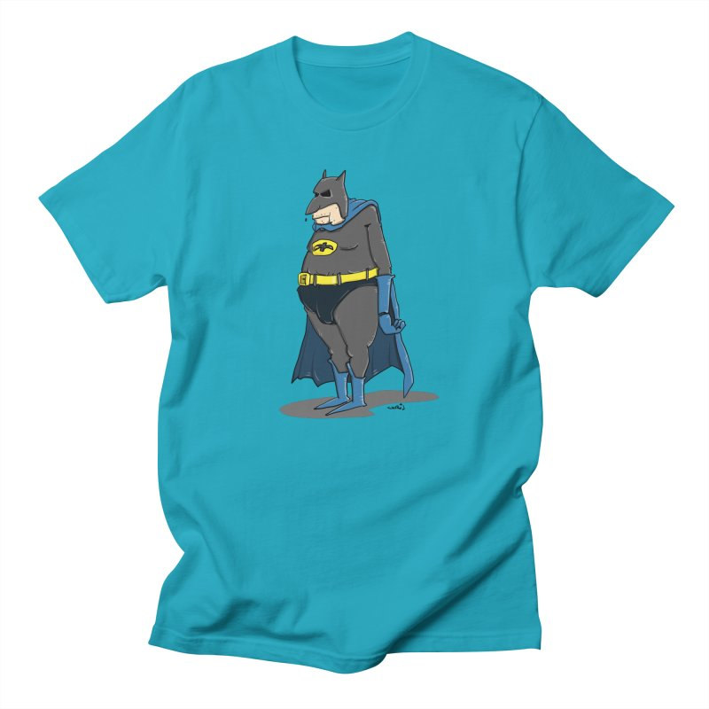Not Bat but Fat. Fatman. Women's Regular Unisex T-Shirt by Illustrated Madness