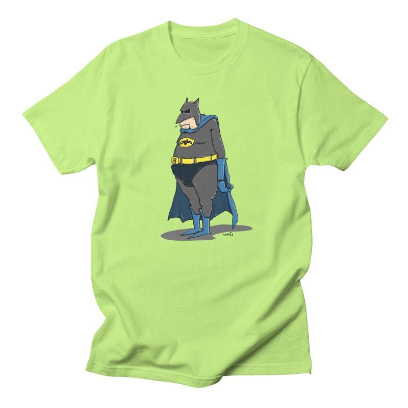 Not Bat but Fat. Fatman. Men's Regular T-Shirt by Illustrated Madness