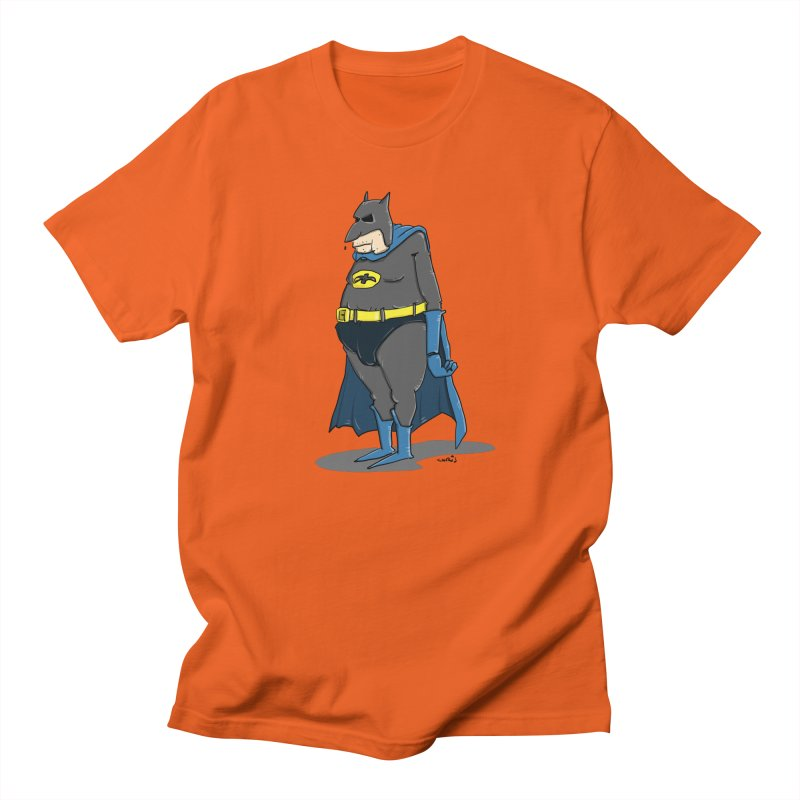 Not Bat but Fat. Fatman. Men's Regular T-Shirt by Illustrated Madness