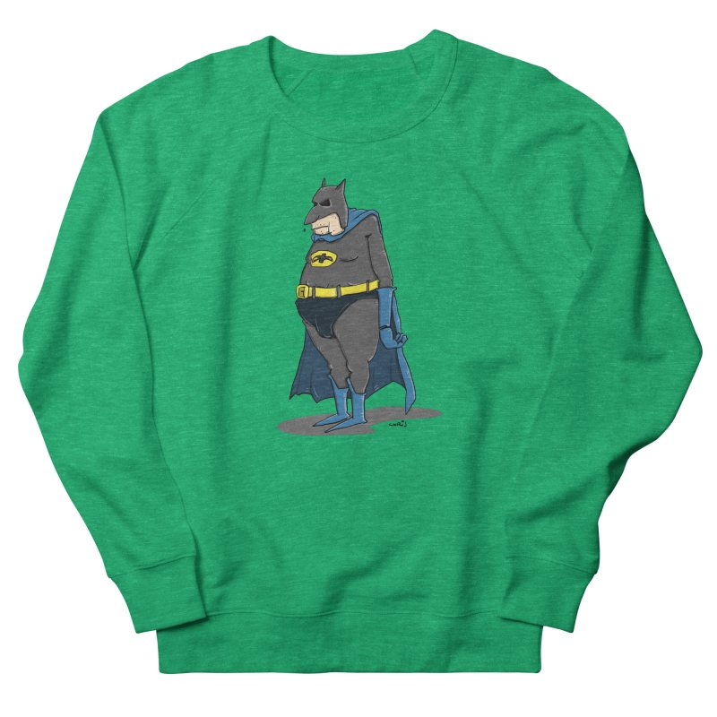 Not Bat but Fat. Fatman. Women's Sweatshirt by Illustrated Madness