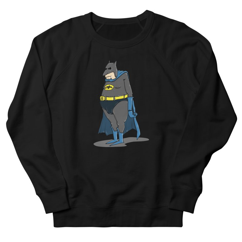 Not Bat but Fat. Fatman. Women's French Terry Sweatshirt by Illustrated Madness