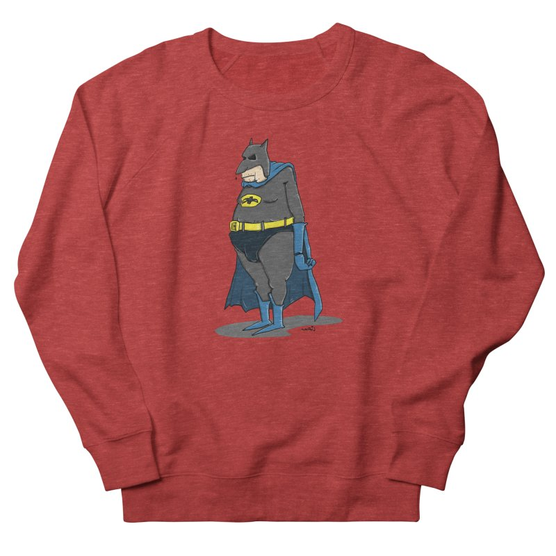 Not Bat but Fat. Fatman. Men's French Terry Sweatshirt by Illustrated Madness