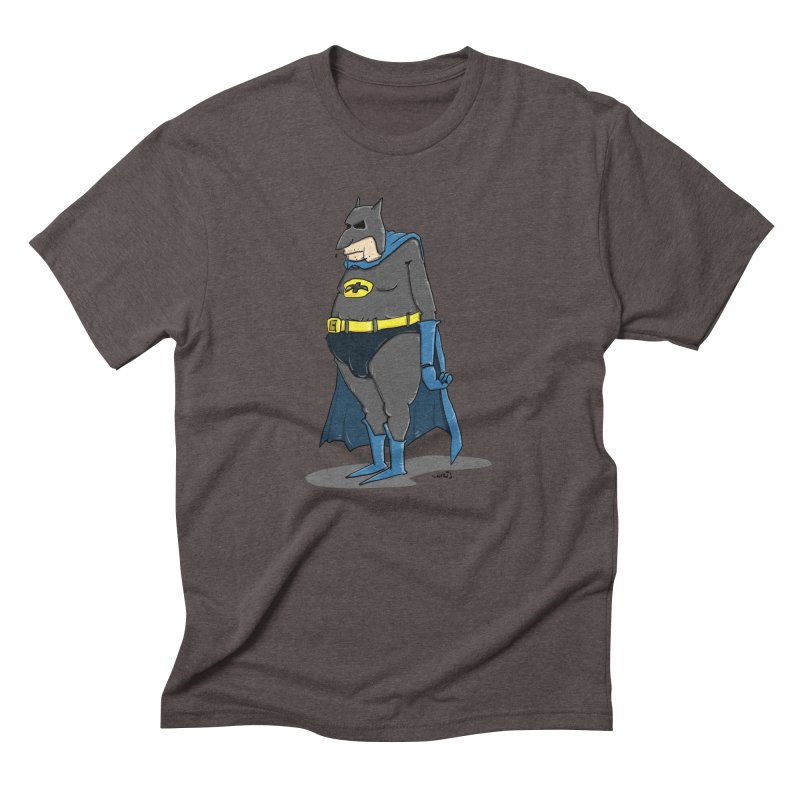 Not Bat but Fat. Fatman. Men's Triblend T-Shirt by Illustrated Madness