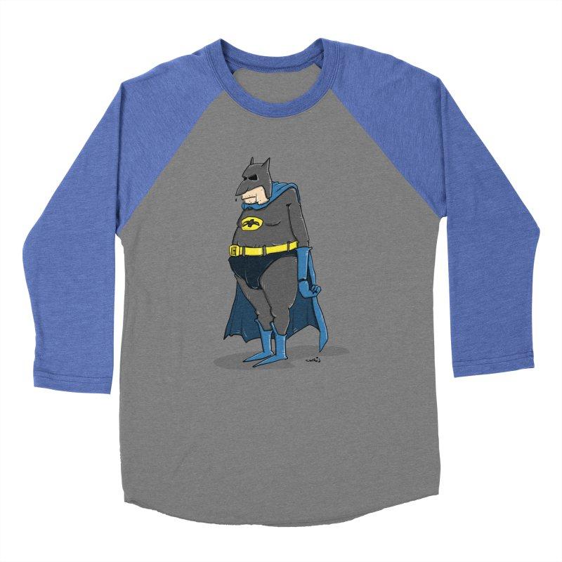 Not Bat but Fat. Fatman. Women's Baseball Triblend T-Shirt by Illustrated Madness