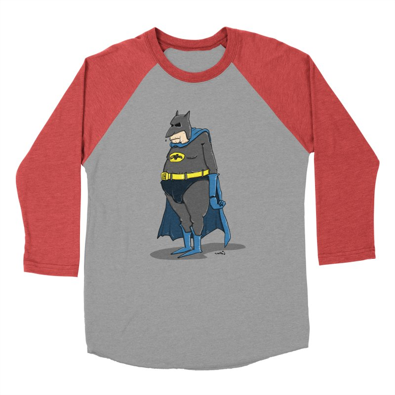 Not Bat but Fat. Fatman. Women's Baseball Triblend Longsleeve T-Shirt by Illustrated Madness