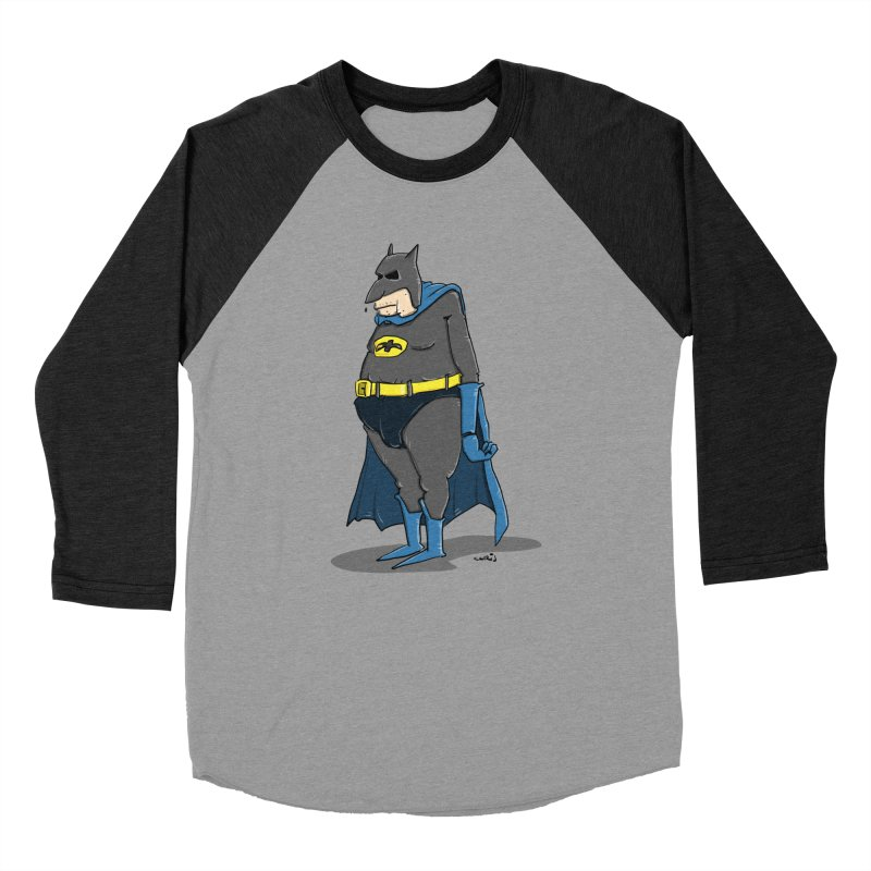 Not Bat but Fat. Fatman. Women's Baseball Triblend Longsleeve T-Shirt by Illustrated Madness