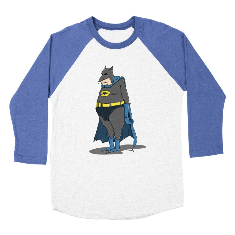 Not Bat but Fat. Fatman. Men's Baseball Triblend Longsleeve T-Shirt by Illustrated Madness