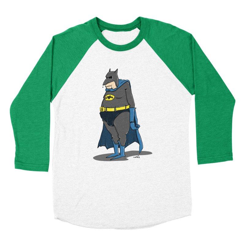 Not Bat but Fat. Fatman. Men's Baseball Triblend Longsleeve T-Shirt by Illustrated Madness