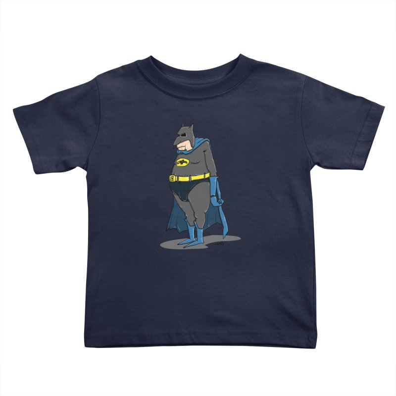 Not Bat but Fat. Fatman. Kids Toddler T-Shirt by Illustrated Madness