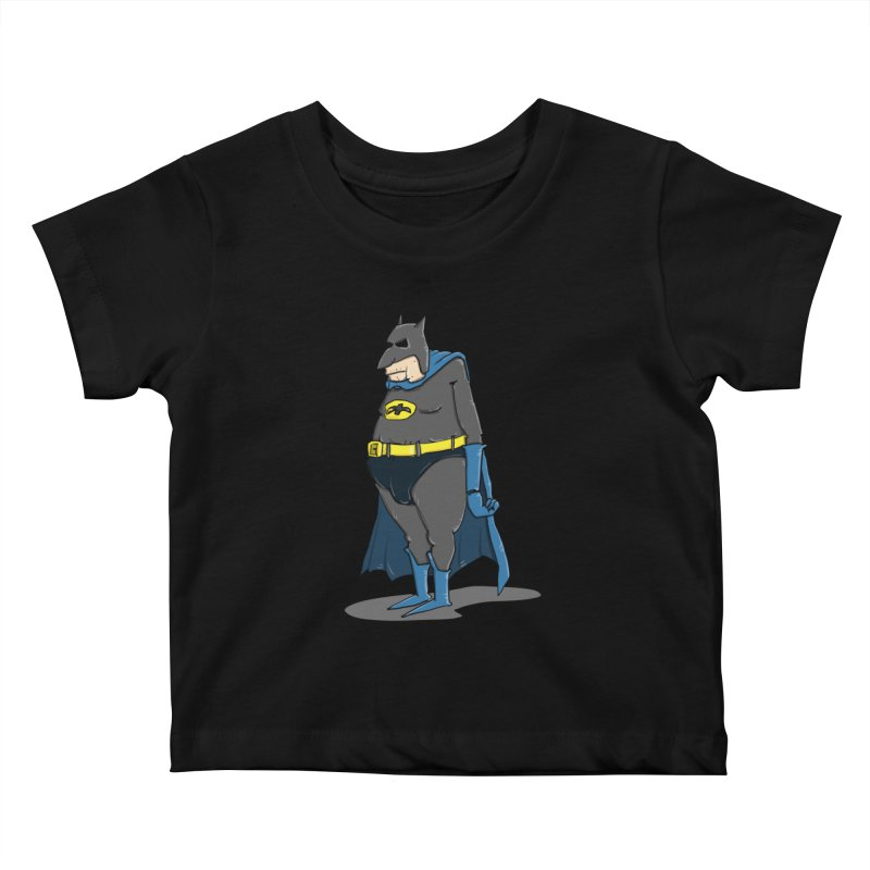 Not Bat but Fat. Fatman. Kids Baby T-Shirt by Illustrated Madness