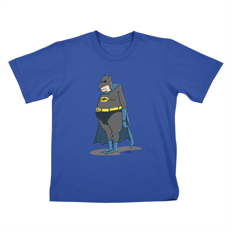 Not Bat but Fat. Fatman. Kids T-Shirt by Illustrated Madness