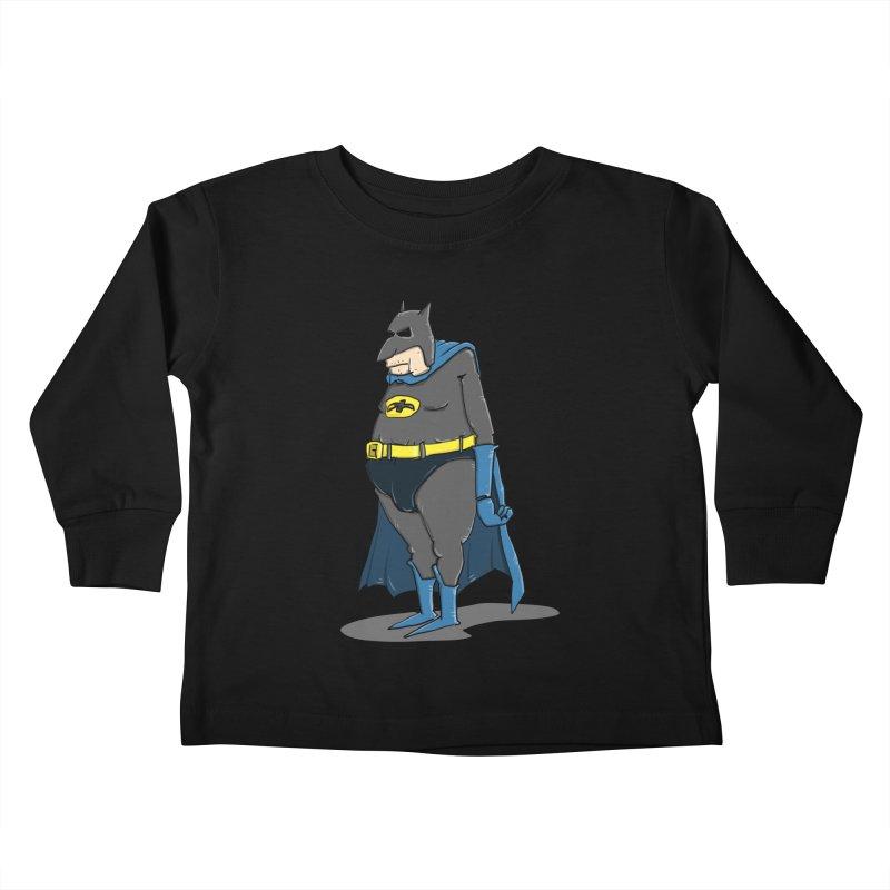 Not Bat but Fat. Fatman. Kids Toddler Longsleeve T-Shirt by Illustrated Madness