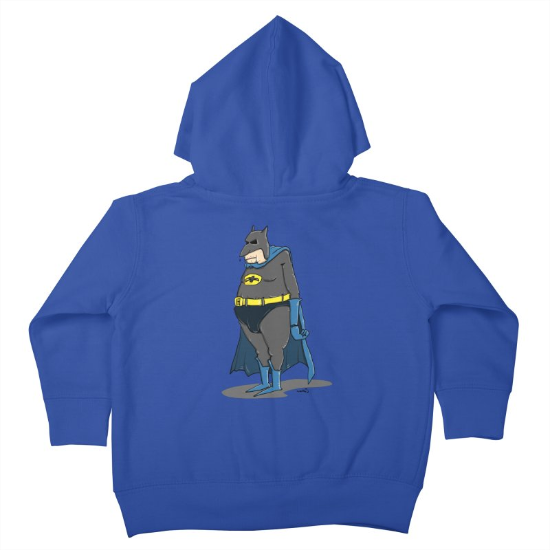 Not Bat but Fat. Fatman. Kids Toddler Zip-Up Hoody by Illustrated Madness