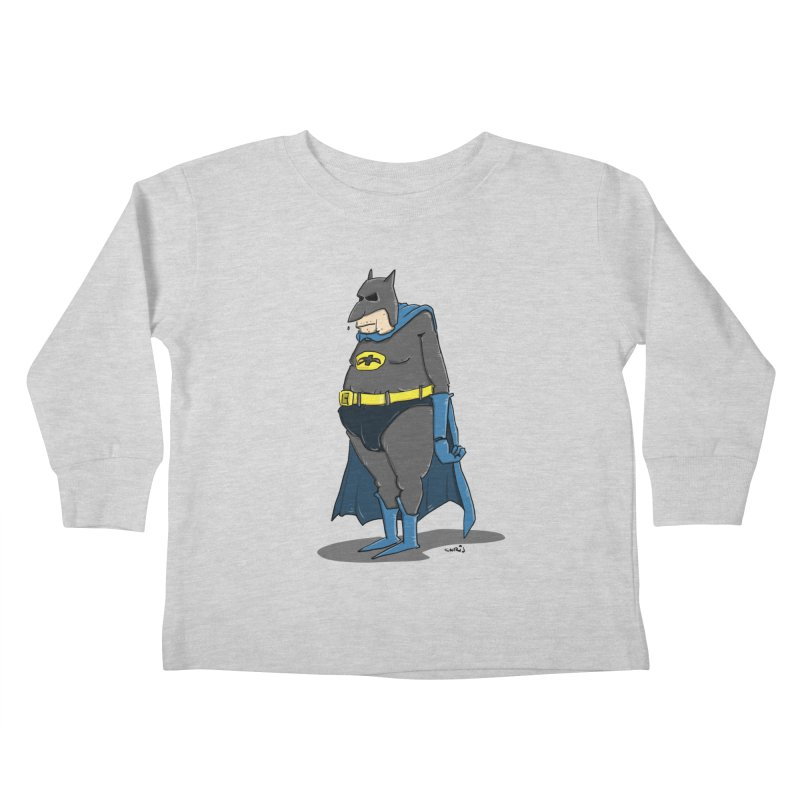 Not Bat but Fat. Fatman. Kids Toddler Longsleeve T-Shirt by Illustrated Madness