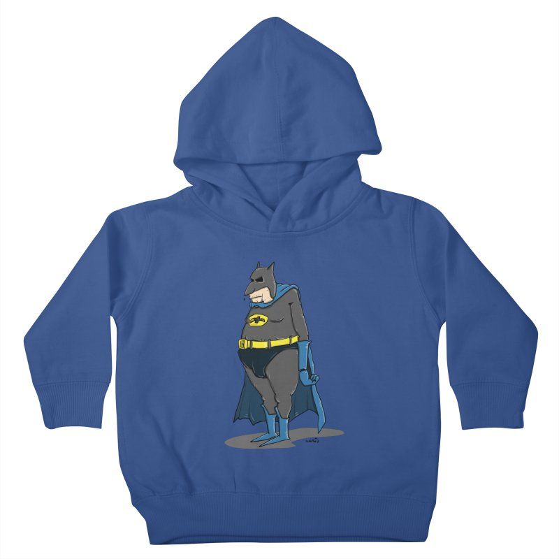 Not Bat but Fat. Fatman. Kids Toddler Pullover Hoody by Illustrated Madness