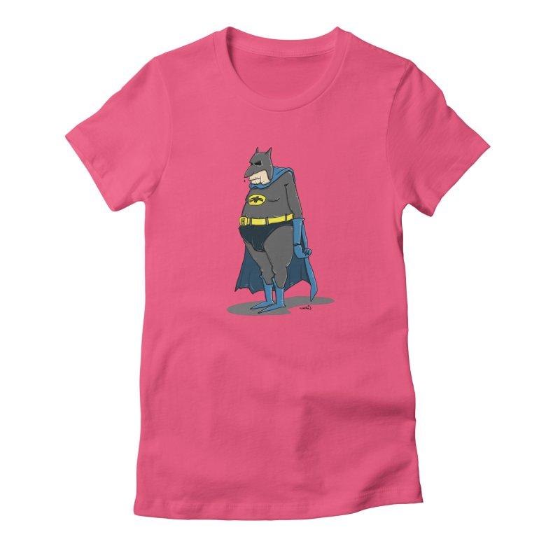 Not Bat but Fat. Fatman. Women's T-Shirt by Illustrated Madness