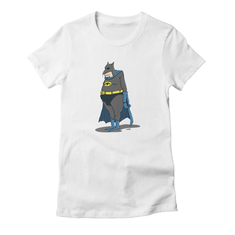 Not Bat but Fat. Fatman. Women's T-Shirt by Illustrated Madness