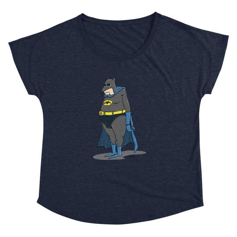 Not Bat but Fat. Fatman. Women's Scoop Neck by Illustrated Madness