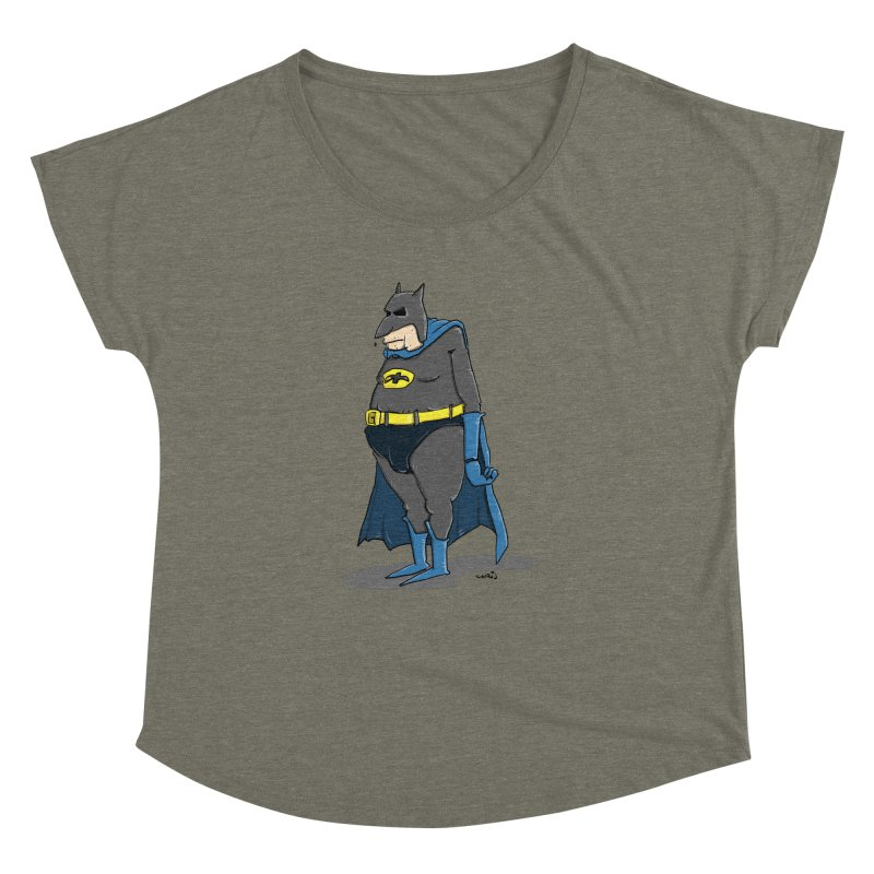 Not Bat but Fat. Fatman. Women's Dolman Scoop Neck by Illustrated Madness