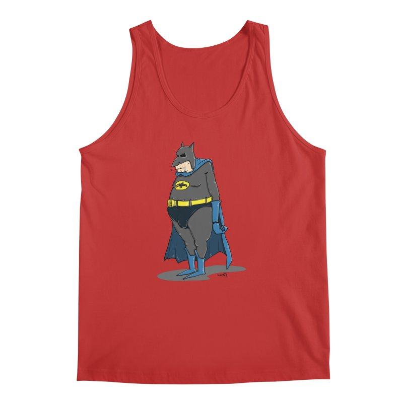 Not Bat but Fat. Fatman. Men's Regular Tank by Illustrated Madness