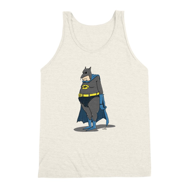 Not Bat but Fat. Fatman. Men's Triblend Tank by Illustrated Madness