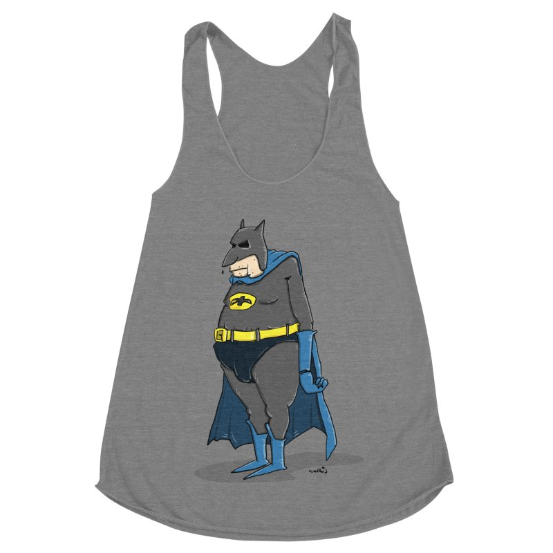 Not Bat but Fat. Fatman. Women's Tank by Illustrated Madness