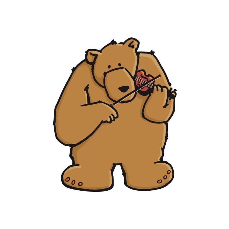 Cute Bear plays a sad and beautiful Love Song on the Violin by Illustrated Madness