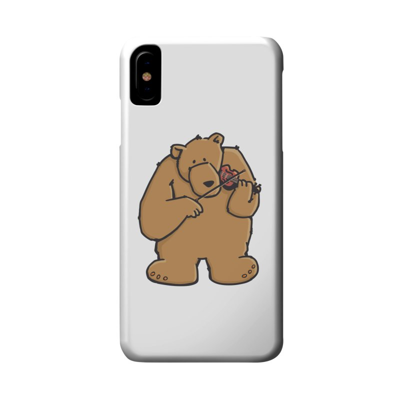 Cute Bear plays a sad and beautiful Love Song on the Violin Accessories Phone Case by Illustrated Madness