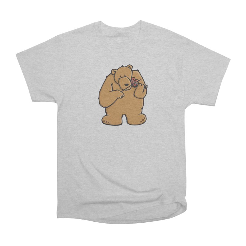 Cute Bear plays a sad and beautiful Love Song on the Violin Men's Heavyweight T-Shirt by Illustrated Madness