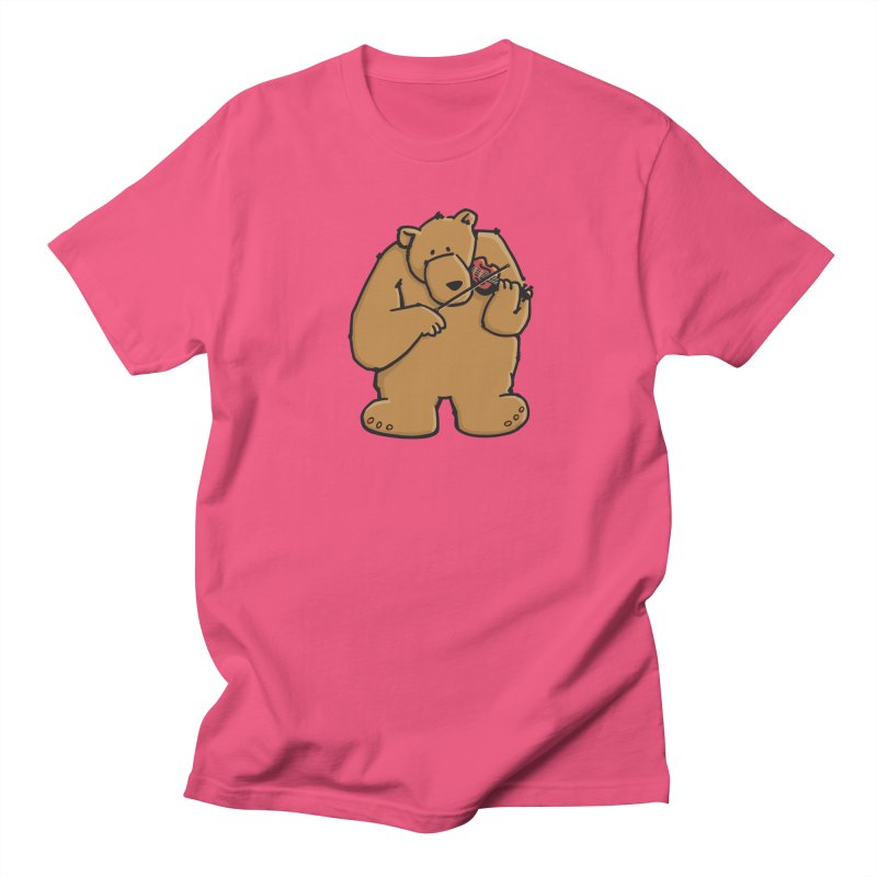 Cute Bear plays a sad and beautiful Love Song on the Violin Women's T-Shirt by Illustrated Madness