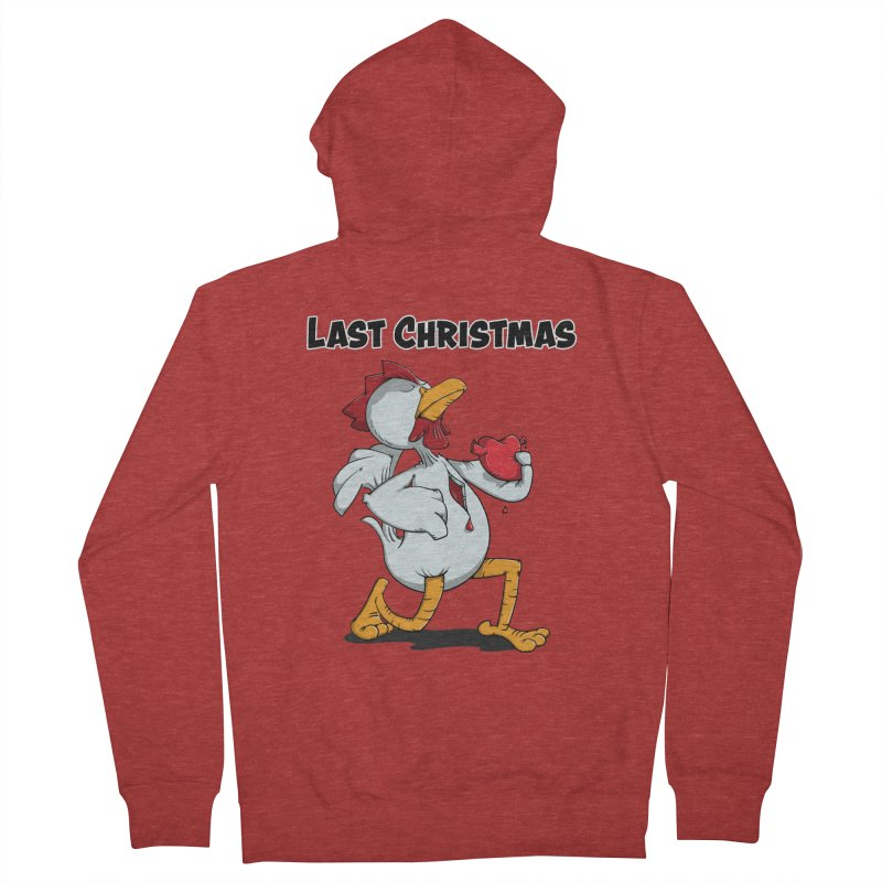 Last Christmas I gave You my Heart Men's Zip-Up Hoody by Illustrated Madness