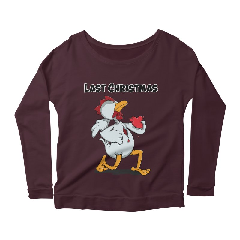 Last Christmas I gave You my Heart Women's Longsleeve Scoopneck  by Illustrated Madness