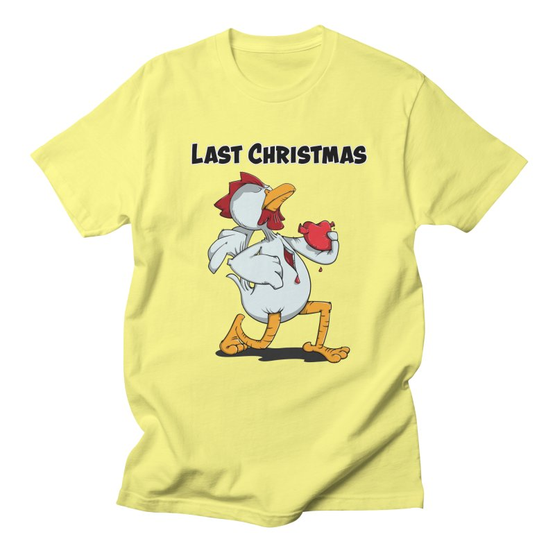 Last Christmas I gave You my Heart Men's Regular T-Shirt by Illustrated Madness
