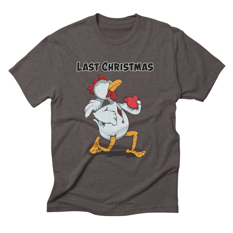 Last Christmas I gave You my Heart Men's Triblend T-Shirt by Illustrated Madness