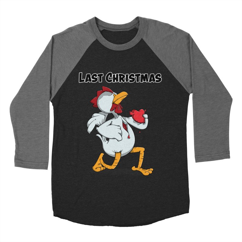 Last Christmas I gave You my Heart Men's Baseball Triblend Longsleeve T-Shirt by Illustrated Madness