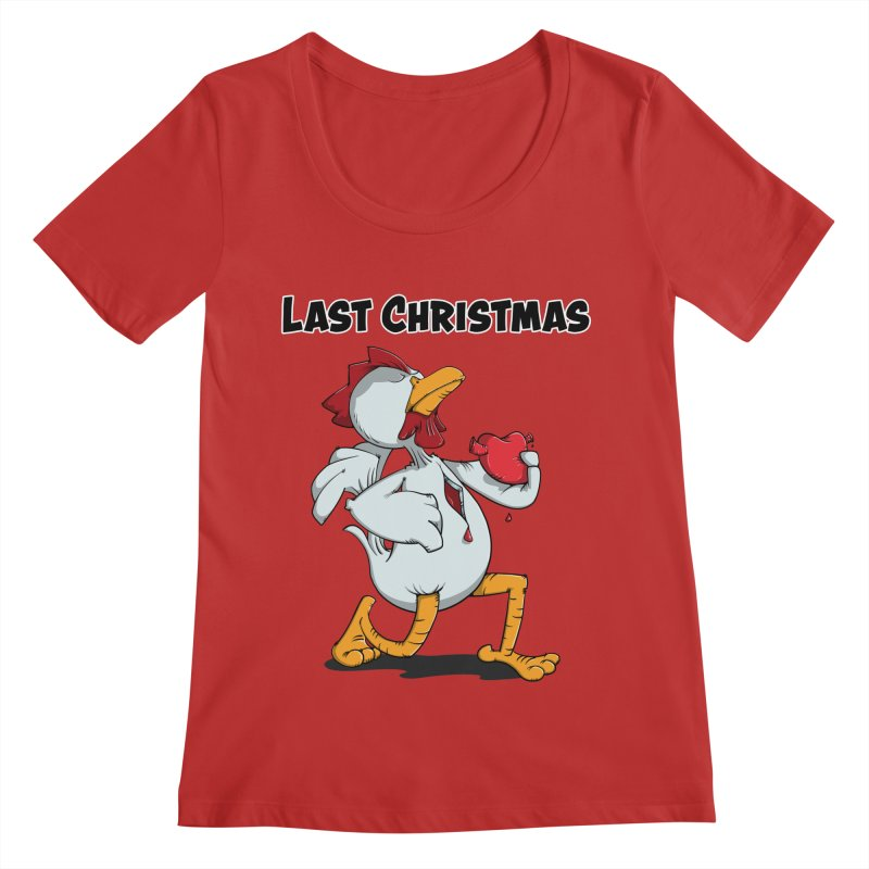Last Christmas I gave You my Heart Women's Regular Scoop Neck by Illustrated Madness