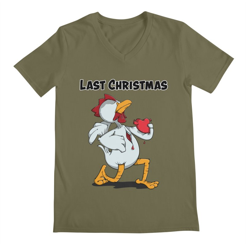 Last Christmas I gave You my Heart Men's V-Neck by Illustrated Madness