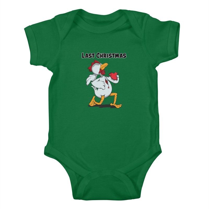 Last Christmas I gave You my Heart Kids Baby Bodysuit by Illustrated Madness