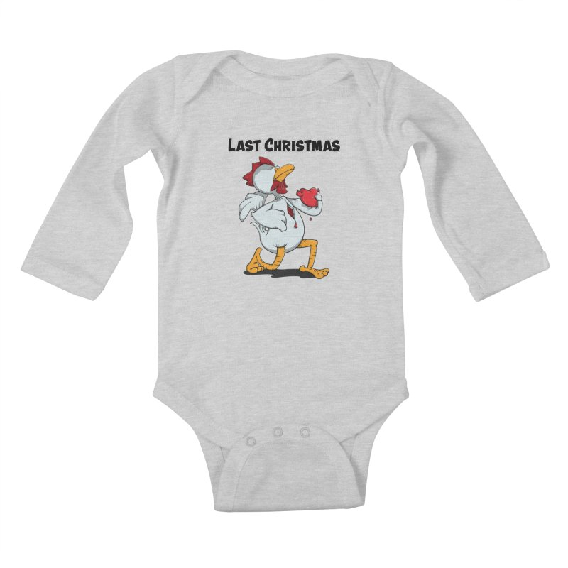 Last Christmas I gave You my Heart Kids Baby Longsleeve Bodysuit by Illustrated Madness