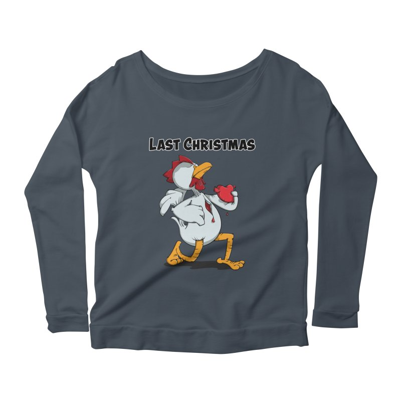 Last Christmas I gave You my Heart Women's Scoop Neck Longsleeve T-Shirt by Illustrated Madness