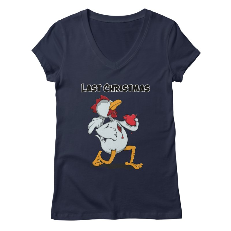 Last Christmas I gave You my Heart Women's V-Neck by Illustrated Madness